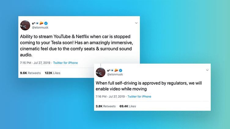 Tesla founder Elon Musk tweets about Netflix and Youtube