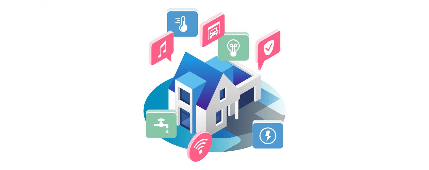 Smart Home IoT graphic