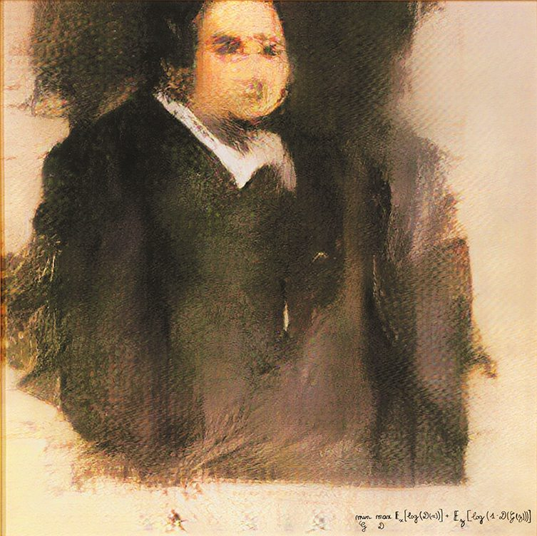 A portrait of Edmond de Belamy, the first AI created artwork to sell at auction