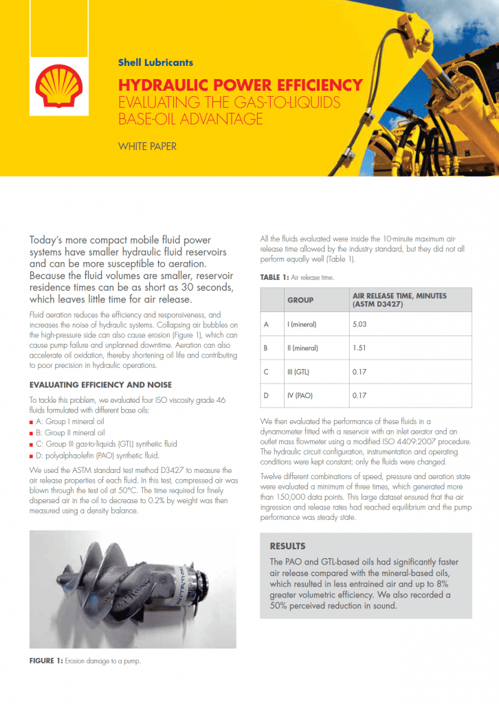 , Whitepapers, THE GAS-TO-LIQUID BASE OIL ADVANTAGE