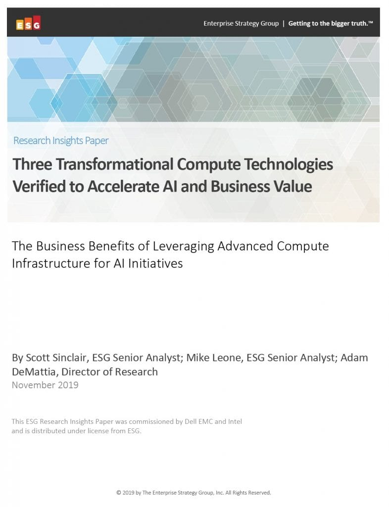 , , Three Transformational Compute Technologies Verified to Accelerate AI and Business Value