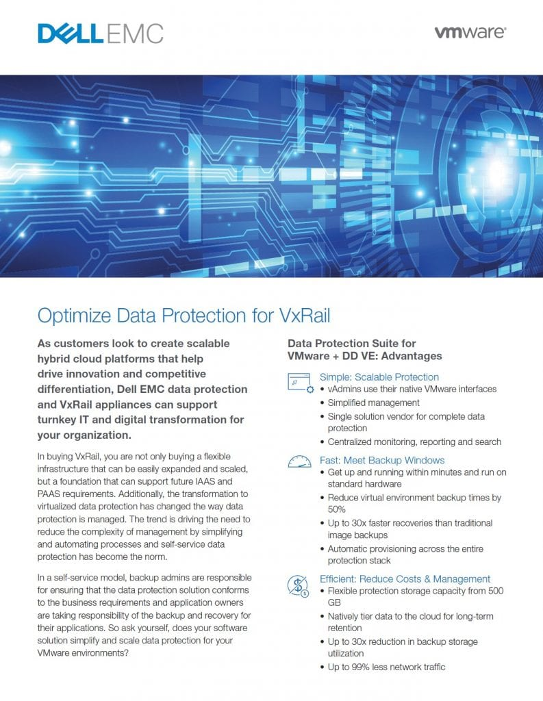 , , Optimize Data Protection for VxRail