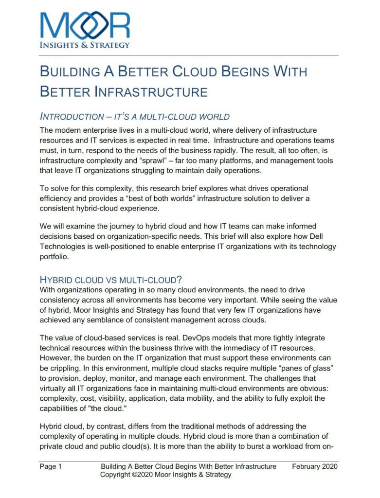 , , Building a Better Cloud Begins With Better Infrastructure