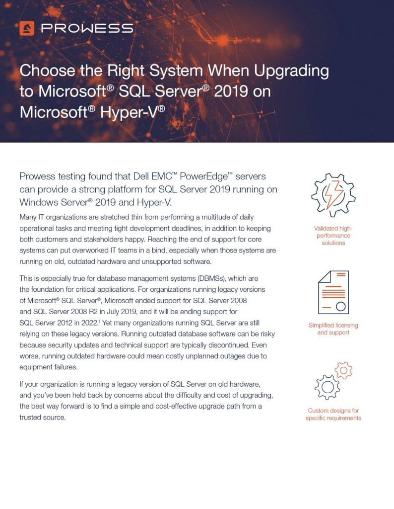 ", , Choose the Right System When Upgrading to <span style=""display: inline-block"">Microsoft<sup>®</sup> SQL Server<sup>®</sup> 2019</span> on <span style=""display: inline-block"">Microsoft<sup>®</sup> Hyper-V<sup>®</sup> </span>"
