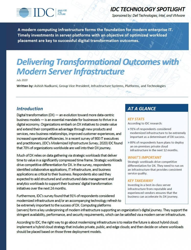 , , Delivering Transformational Outcomes with Modern Server Infrastructure