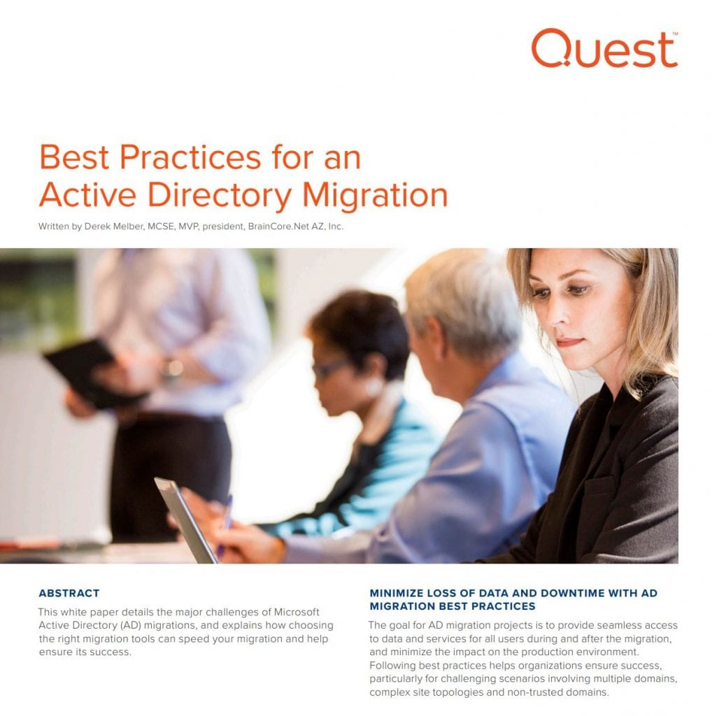 , Whitepapers, Best Practices for an Active Directory Migration