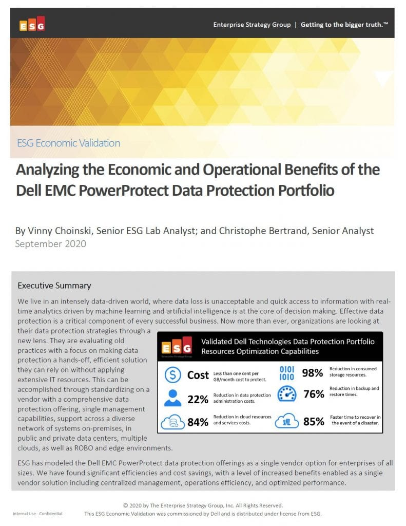 , , Analyzing the Economic and Operational Benefits of the Dell EMC PowerProtect Data Protection Portfolio