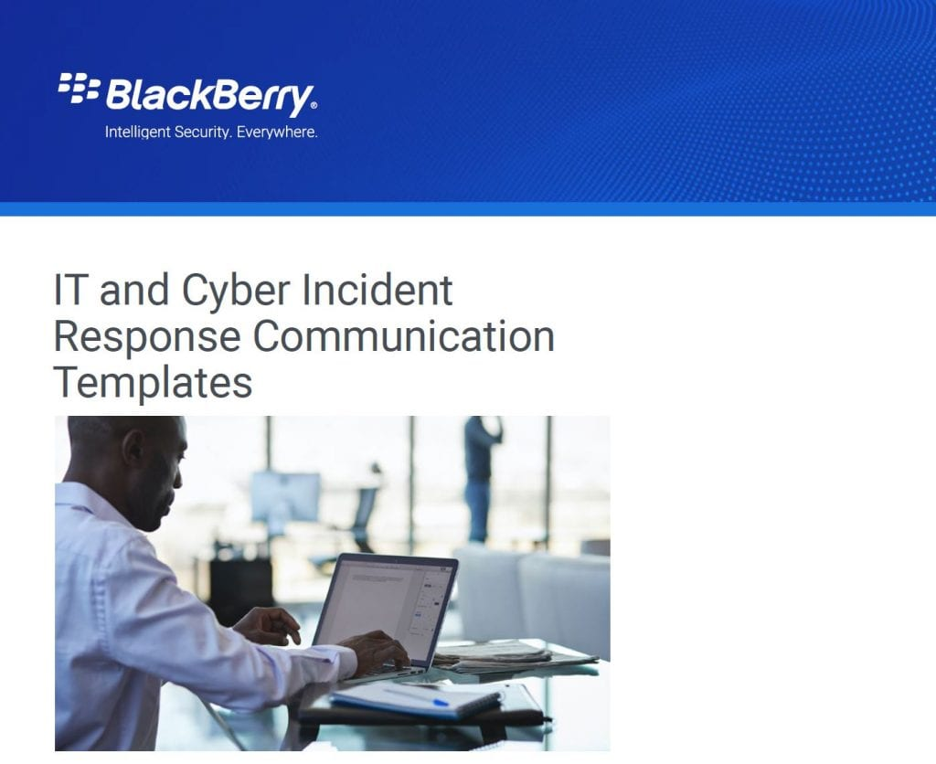 5G, , IT and Cyber Incident Response Communication Templates